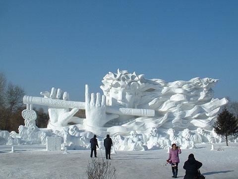 escultura hielo harbin