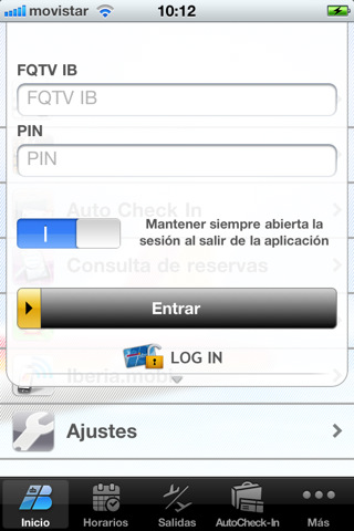 Iberia en el iPhone e iPod Touch Iberia en el iPhone e iPod Touch