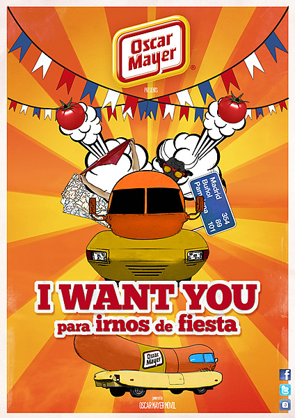 i want you para irnos de fiesta oscar mayer1 Oscar Mayer: I want you para irnos de fiesta por España