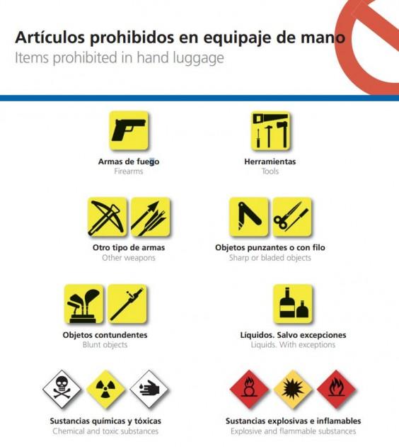 articulos prohibidos en equipaje de mano Qué podemos llevar y qué no en nuestro equipaje de mano para avión
