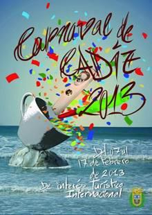 CARTEL CARNAVAL DE CADIZ 2013 Los Carnavales más divertidos y originales de España